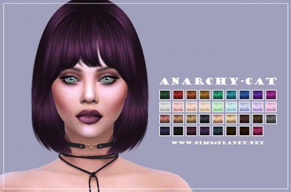 Anarchy Cat: Nightcrawler`s Hair27 for Sims 4