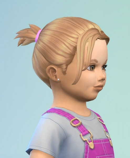 Birksches sims blog: Messy Brush hair for toddlers for Sims 4