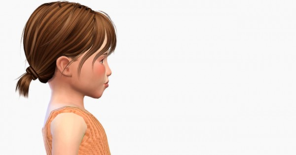 Simiracle: Jakea`s Aster hair for toddlers for Sims 4