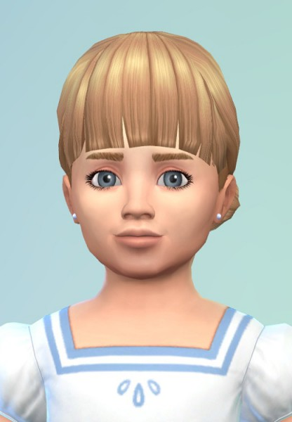 Birksches sims blog: Bun Twins hair for toddlers for Sims 4