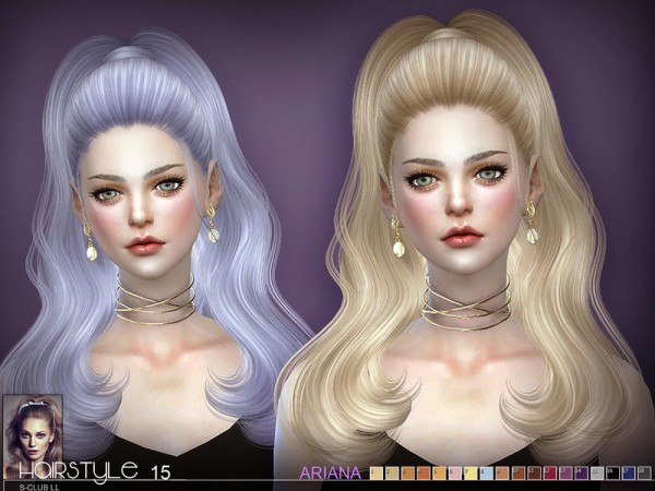The Sims Resource: Ariana N15 hair by S Club for Sims 4
