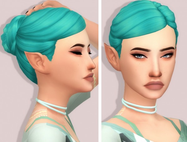 Tranquility Sims: Grimcookie`s Subarbiea hair recolored for Sims 4