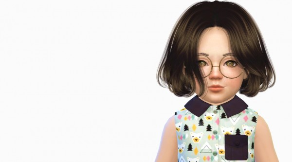 Simiracle: Anto` Thorns hair retextured for toddlers for Sims 4