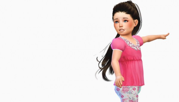 Simiracle: Anto`s Paraguay hair retextured for toddlers for Sims 4