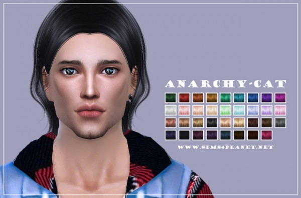 Anarchy Cat: Sintiklia`s 49 Freeze hair recolor for Sims 4