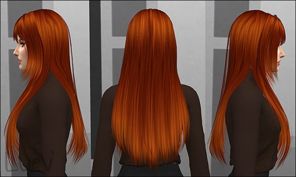 Mertiuza: Hit The Lights hair retextured for Sims 4