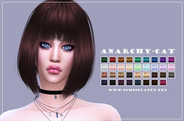 Anarchy Cat: Anto`s Citric hair retextured for Sims 4
