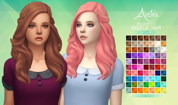 Aveira Sims 4: Wildspit's Angelic Hair   Recolor for Sims 4