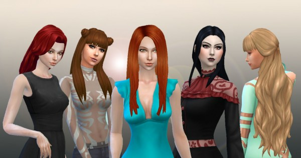 Mystufforigin: Long Hair Pack 7 for Sims 4