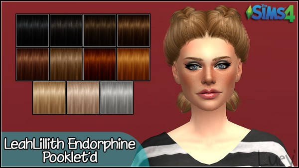 Mertiuza: Leahlillith`s Endorphine hair retextured for Sims 4