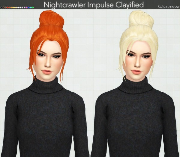 Kot Cat: Nightcrawler`s Impulse Hair Clayified for Sims 4
