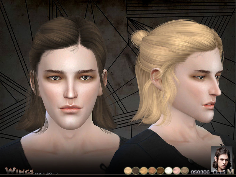 The Sims Resource: OS0306 MF hair by Wings Sims ~ Sims 4 Hairs