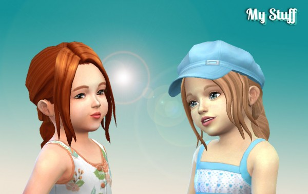 Mystufforigin: Simplicity Hair for Toddlers for Sims 4