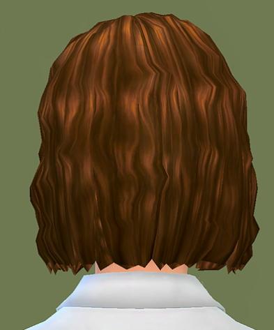 Choco Sims: Curly bob hair for Sims 4