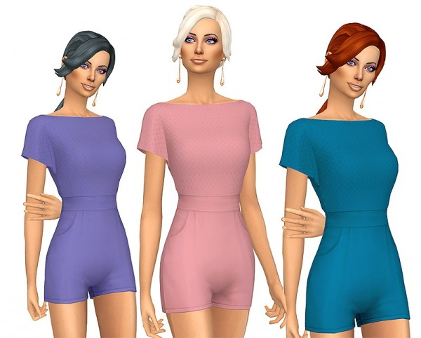 Sims Fun Stuff: Simple Simmer Low Pony hair retextured for Sims 4