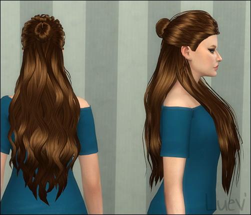 Mertiuza: Lyca disclosure hair retextured for Sims 4