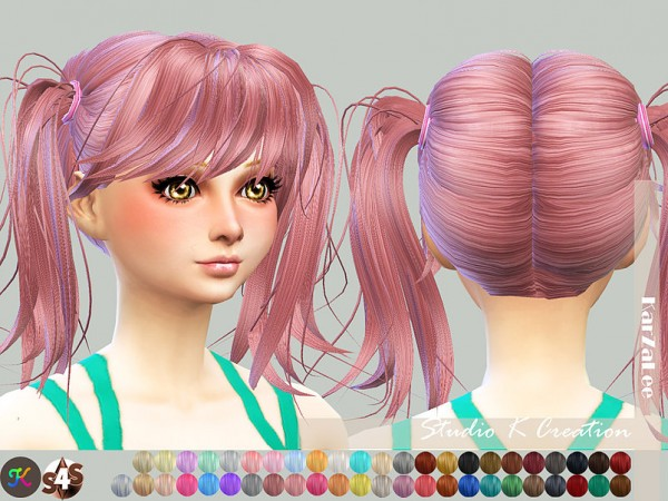 Studio K Creation: Animate hair 78 Judy for Sims 4