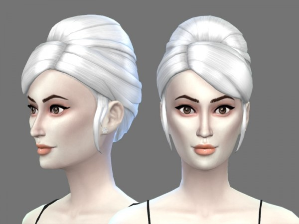 The Sims Resource: White Hair 9 Recolor by filo4000 for Sims 4