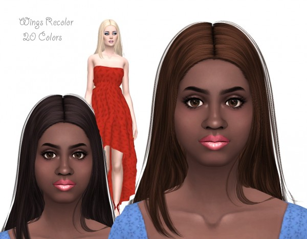 Sims Fun Stuff: Wings 27 and Moonlight Hair recolors for Sims 4