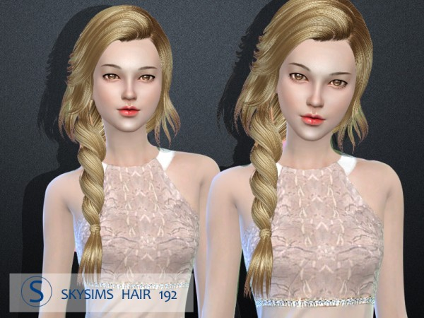 Butterflysims: Skysims 192 hair for Sims 4