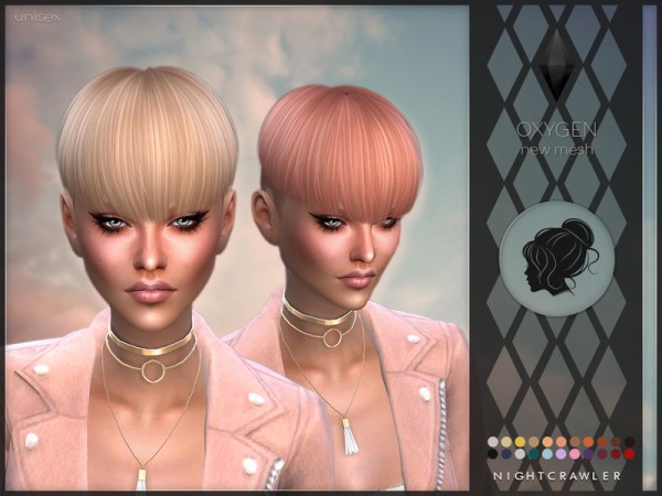 The Sims Resource: Oxygen hair by Nightcrawler for Sims 4