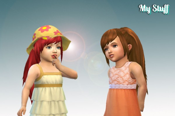 Mystufforigin: Fashion Ponytail for Toddlers for Sims 4