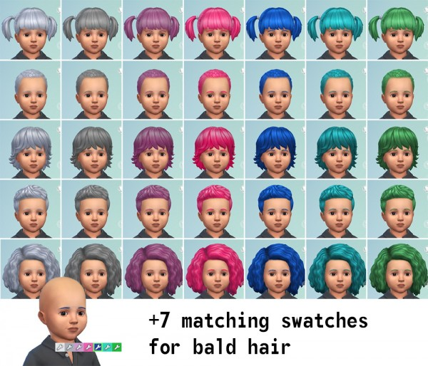 Mod The Sims: Dyed Hair Recolours by freedri for Sims 4