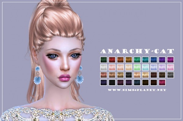 Anarchy Cat: Anto's Perfect Illusion hair retextured for Sims 4