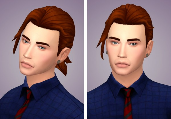 Tranquility Sims: Hanzo V2 hair recolored for Sims 4