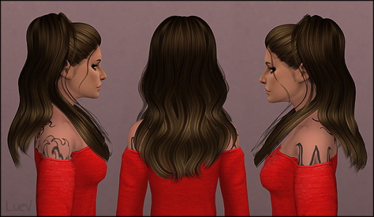Mertiuza: Sclub`s Ariana hair retextured for Sims 4
