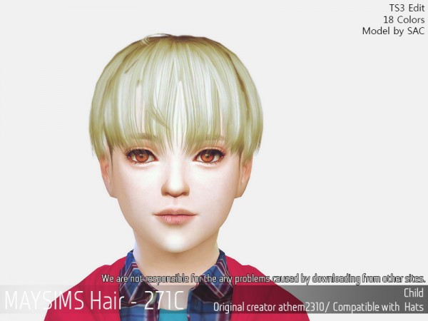 MAY Sims: May 271C hair retextured for Sims 4