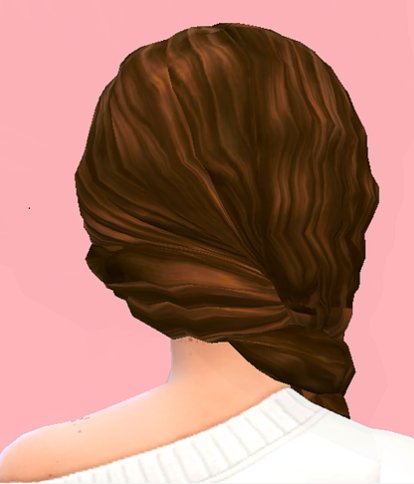 Choco Sims: Curly side braid for Sims 4