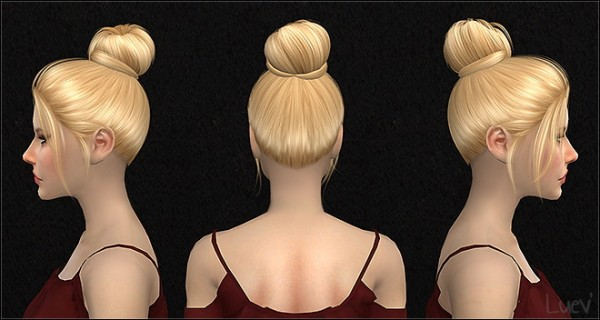 Mertiuza: Nightcrawler`s Impulse Hair retextured for Sims 4