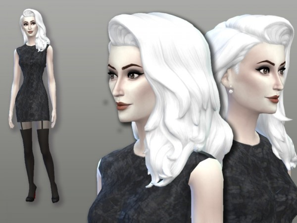 The Sims Resource: White Hair Recolor 10: Cool Kitchen Style by filo4000 for Sims 4
