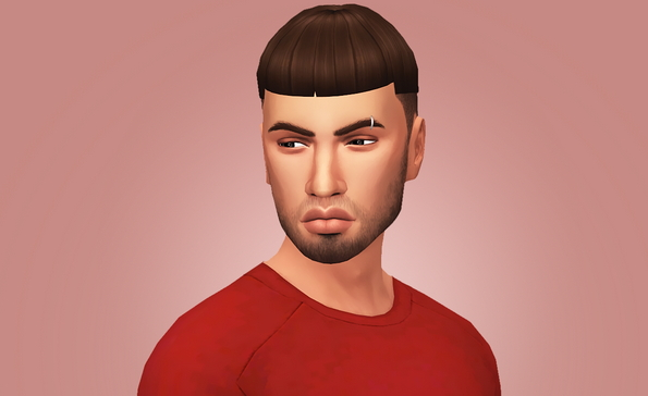 Grimcookies: Credence hair for Sims 4
