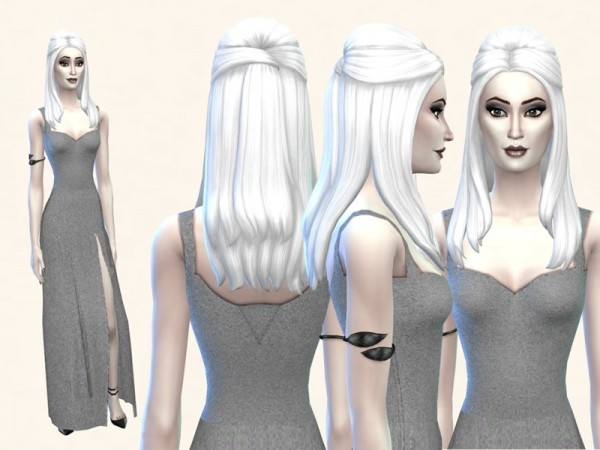 The Sims Resource: White Hair Recolor 7: Luxury Party Style by filo4000 for Sims 4