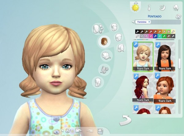 Mystufforigin: Dolly Hair for toddlers for Sims 4