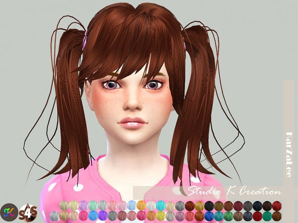 Studio K Creation: Animate hair 78   Judy for kids for Sims 4