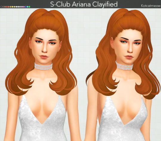 Kot Cat: S Club`s Ariana and Ade Darma`s Olivia hairs clayified for Sims 4