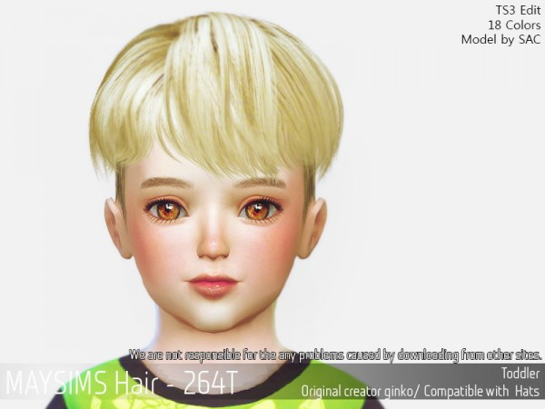 MAY Sims: MAY Hair 264T for Sims 4