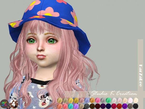 Studio K Creation: Animate hair 65   Rika   toddler version for Sims 4