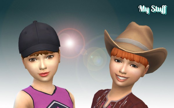 Mystufforigin: High Ponytail with Bangs for Girls for Sims 4