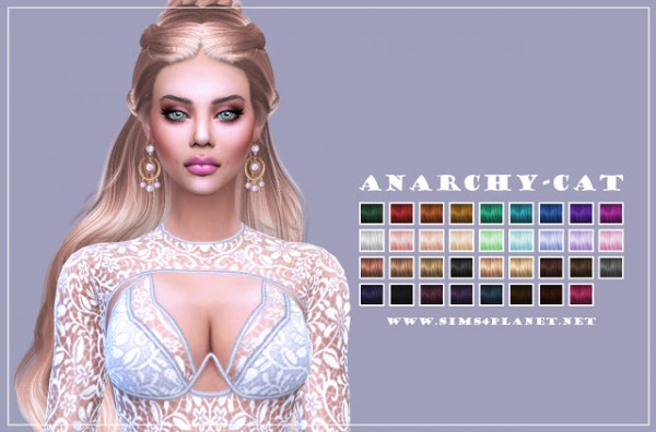 Anarchy Cat: Wings hair ETS1123 recolor for Sims 4