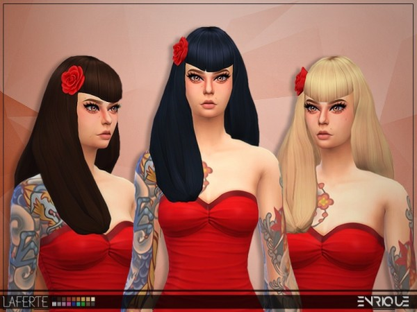 The Sims Resource: Enrique`s Laferte Hair retextured by jruvv for Sims 4