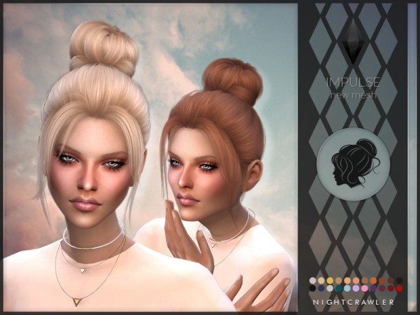 The Sims Resource: Impulse hair by Nightcrawler  for Sims 4
