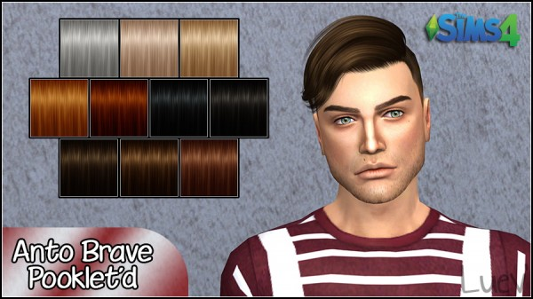 Mertiuza: Anto`s Brave Hair retextured for Sims 4