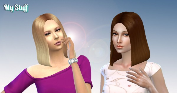Mystufforigin: Olivia Hairstyle for Sims 4