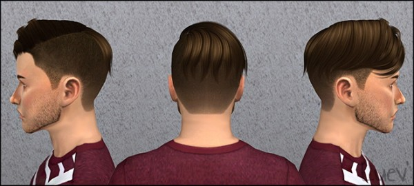 Mertiuza: Anto`s Brave Hair retextured for Sims 4