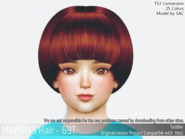 MAY Sims: May 96T hair retextured for Sims 4