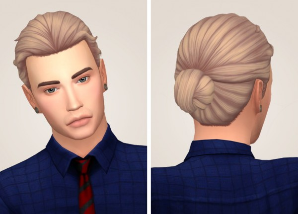 Tranquility Sims: Eli hair recolored for Sims 4